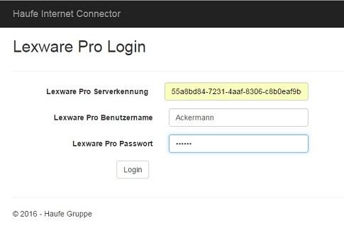 Reisekosten App - Specify the Lexware pro details