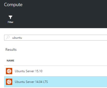 Select Ubuntu