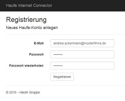 Reisekosten App - Register as a new user