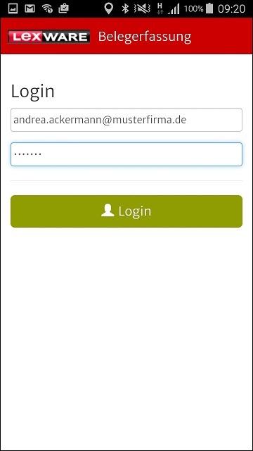 Reisekosten App - Login